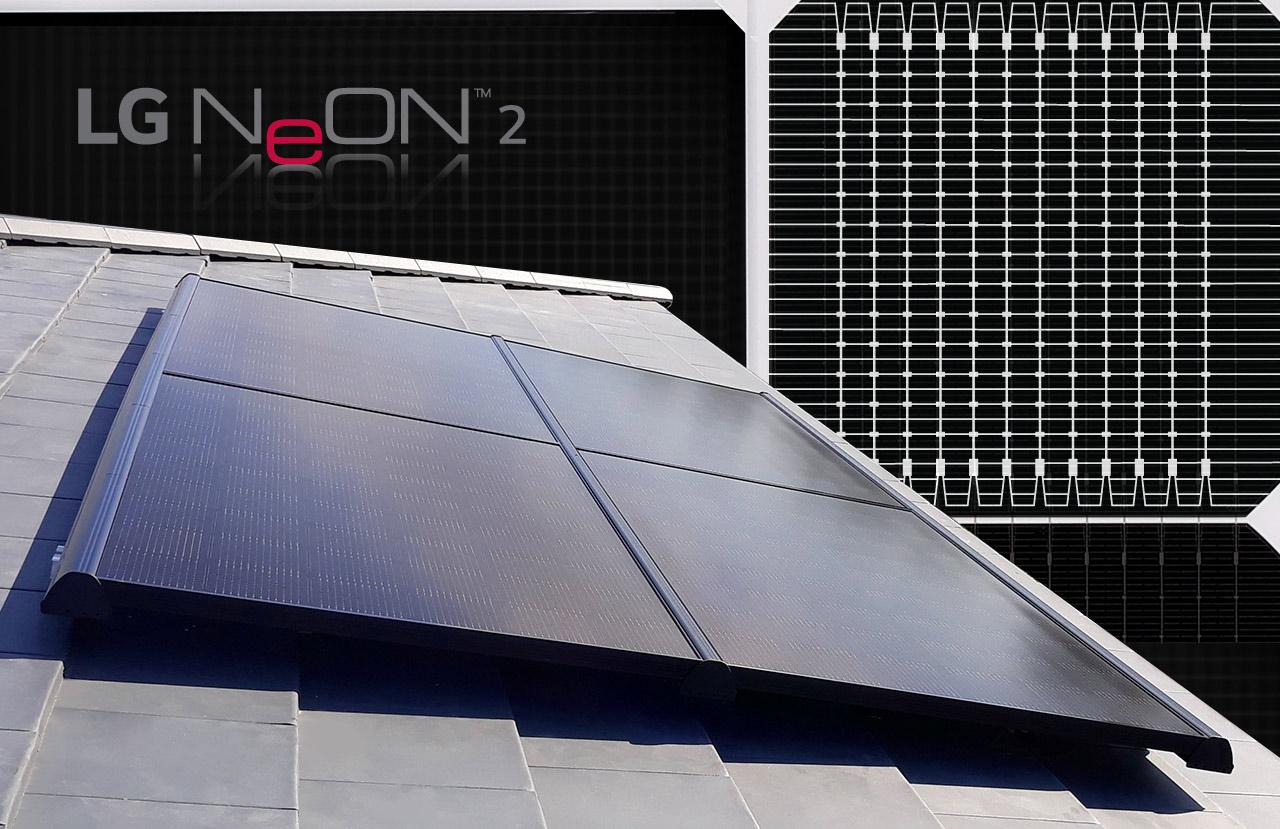 LG solar panels black Neon2