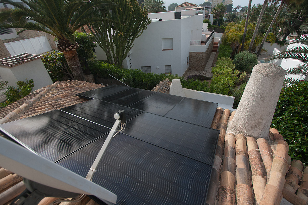 instalation of solar panels in Valencia, Alicante, Moraira