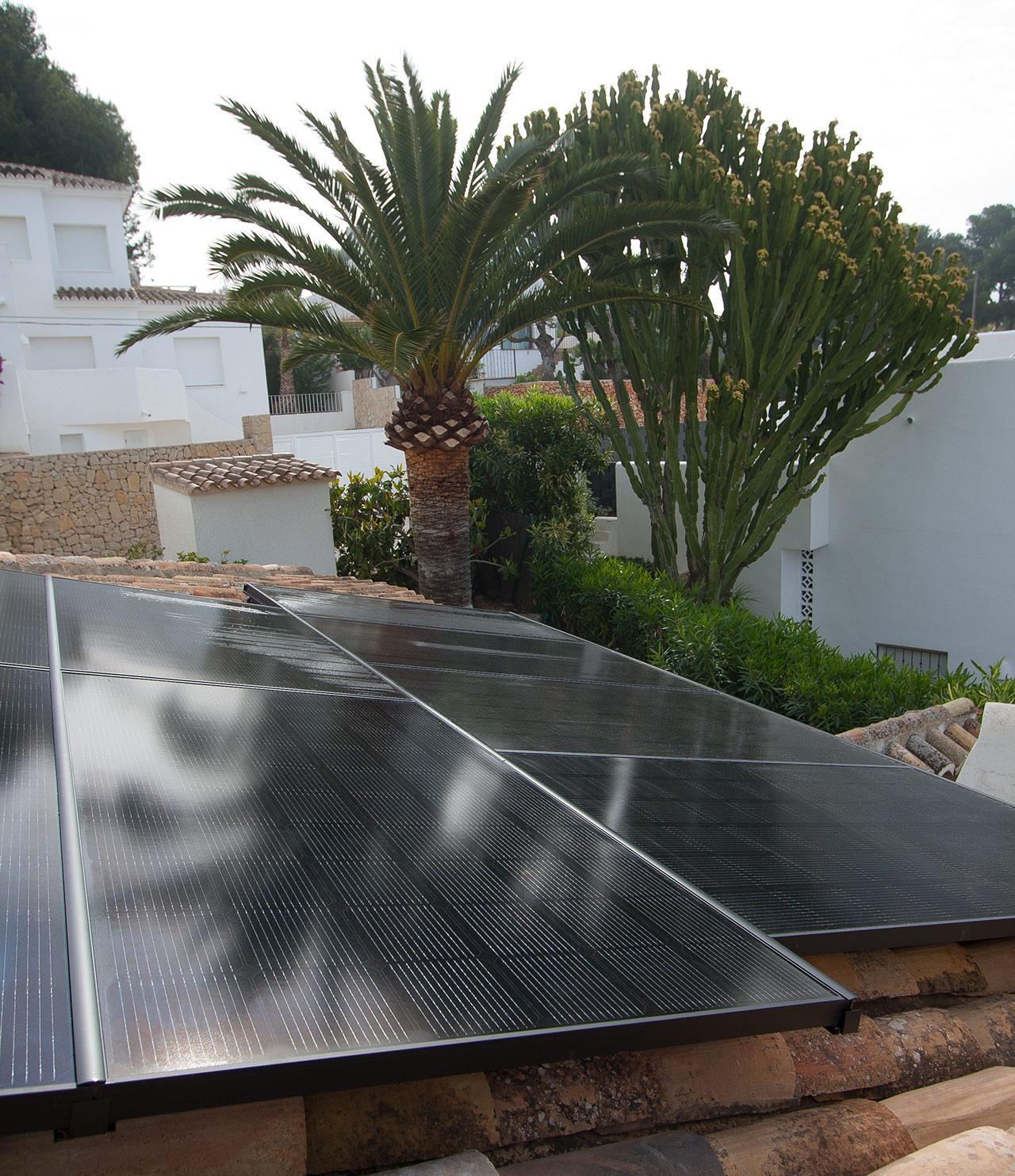 solar panels instalation in Moraira