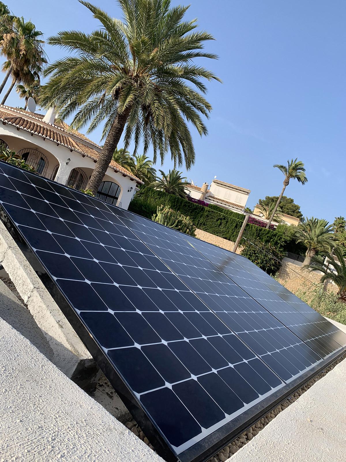 instalacion de paneles solares en Moraira, Alicante