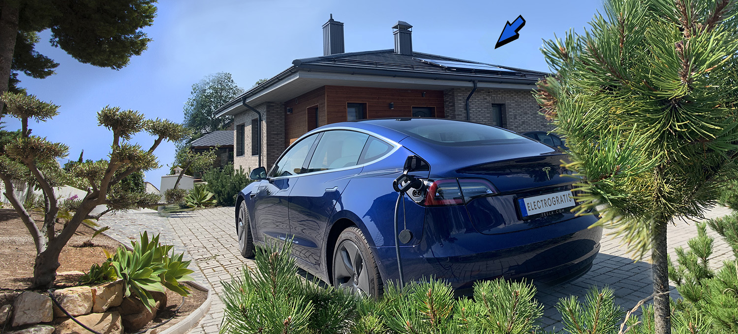 car charging with solar energy panels