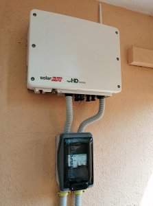 installation of invertor solar edge