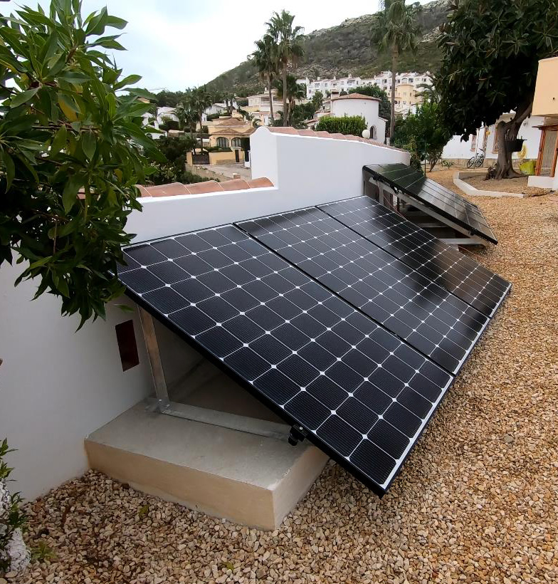 instalation of solar power system for home